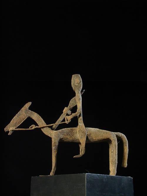 Cavalier en fer noir - Bambara - Mali - Fer noir africain