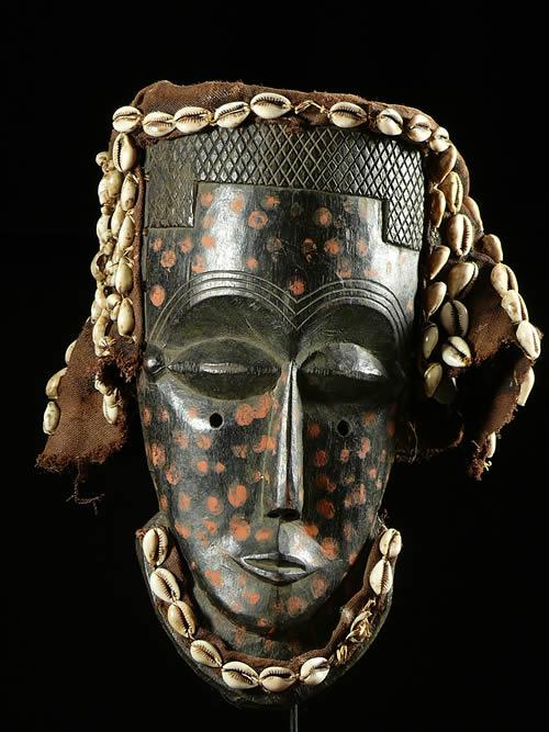 Masque facial funeraire - Lele / Bashilele - RDC Zaire