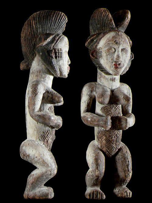Statuette rituelle feminine - Punu / Pounou - Gabon