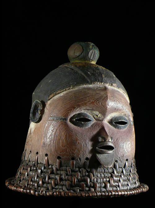 Masque initiatique Mukanda Kakungu - Suku - RDC Zaire