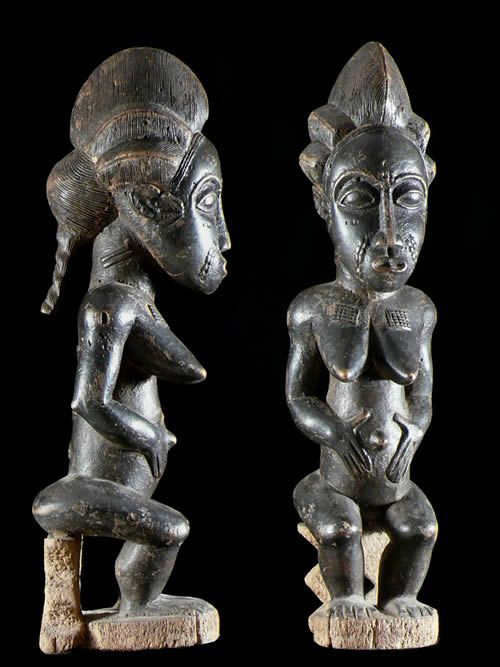 Statuette Commemorative Royale - Baoule - Côte d'Ivoire