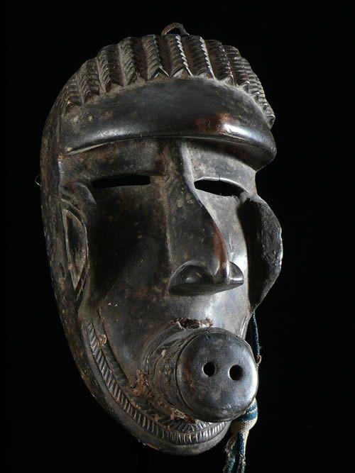 Masque phacochere - Kru / Krumen / Kran - Côte d'Ivoire