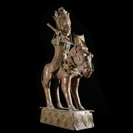 Oba et son cheval - Nigeria...