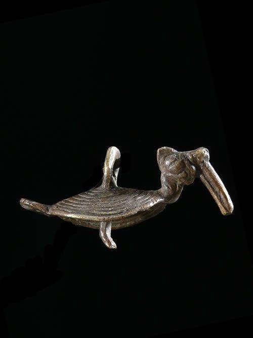 Pendentif amulette toucan - Lobi - Burkina Faso