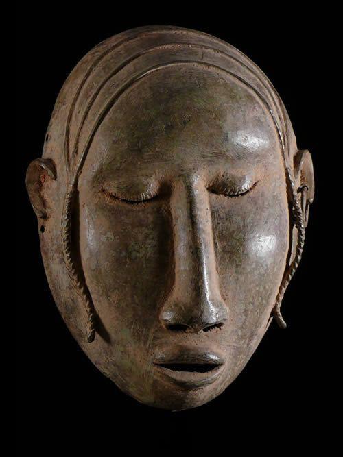 Masque en alliage de metal - Bambara - Mali