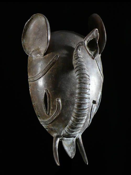 Masque en alliage de metal - Kulango - Côte d'Ivoire