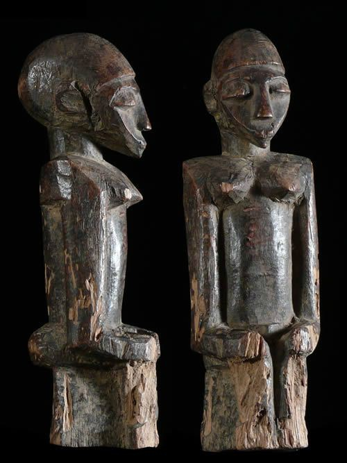 Fetiche Bateba ou Bouthiba ordinaire assis - Lobi - Burkina