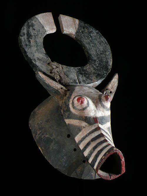 Masque Buffle Polychrome - Mossi - Burkina Faso