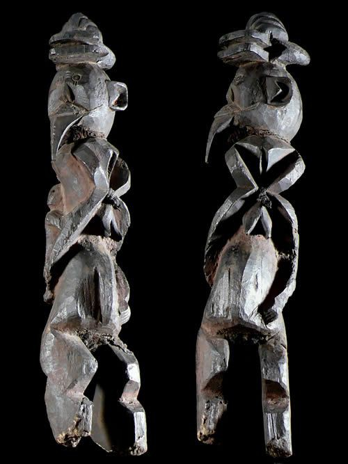 Statuette Maternite Zoomorphe - Chamba - Nigeria