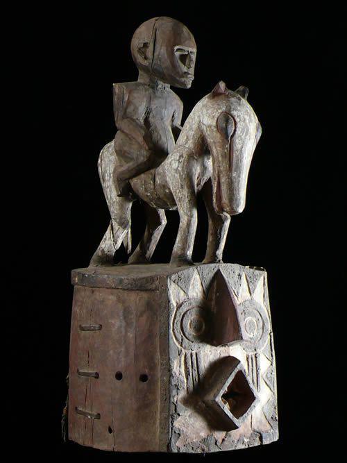 Masque Casque Cavalier Polychrome Bolo - Bobo - Burkina Faso
