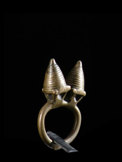Bague amulette double cone - Dogon - Mali