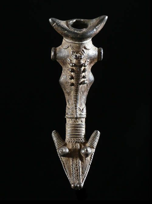Sifflet en bronze - Lobi / Gan - Burkina Faso - Aerophones