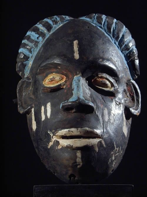Masque ancien Igbo porte - Nigeria - Masque africain