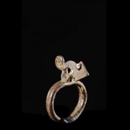 Bague amulette cameleon -...