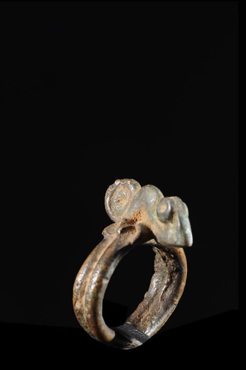 Bague amulette cameleon - Lobi - Burkina Faso