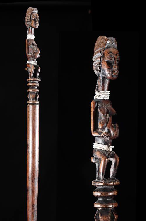 Canne de dignitaire - Baoule - Côte d'Ivoire - Objets de regalia