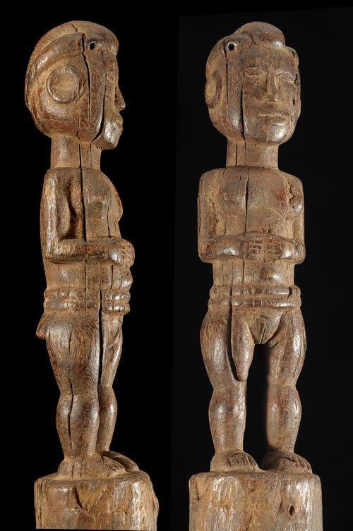 Statuette Poteau Anthropomorphe - Choma / Karim - Nigeria
