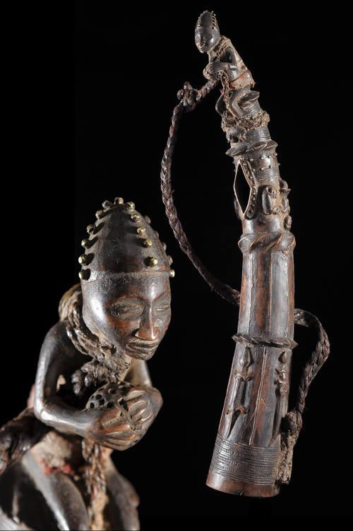 Trompe ou Olifant en Corne - Bamoun / Bamileke - Cameroun