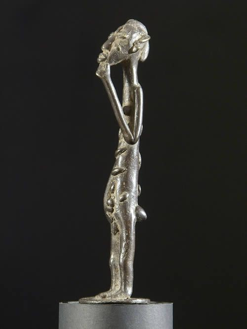 Personnage Baoule en Bronze - Statuettes Bronze Afrique