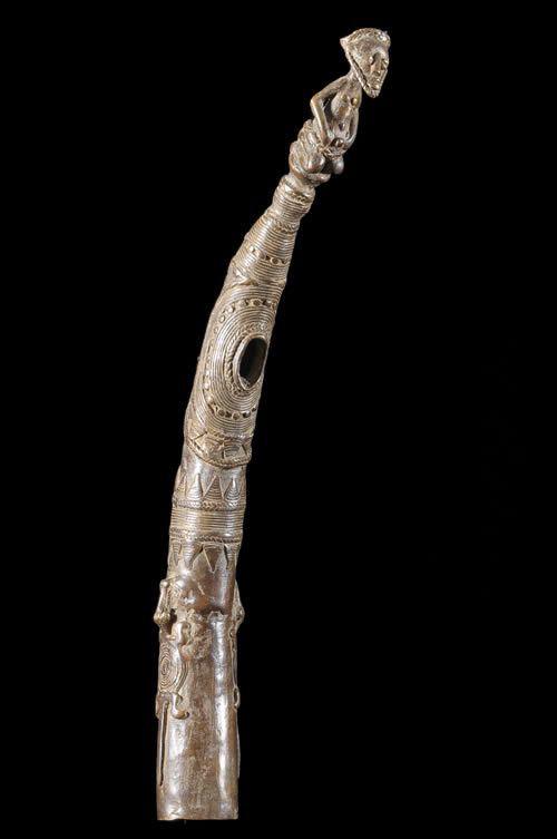 Trompe ou Olifant en Bronze - Senoufo - Côte d'Ivoire
