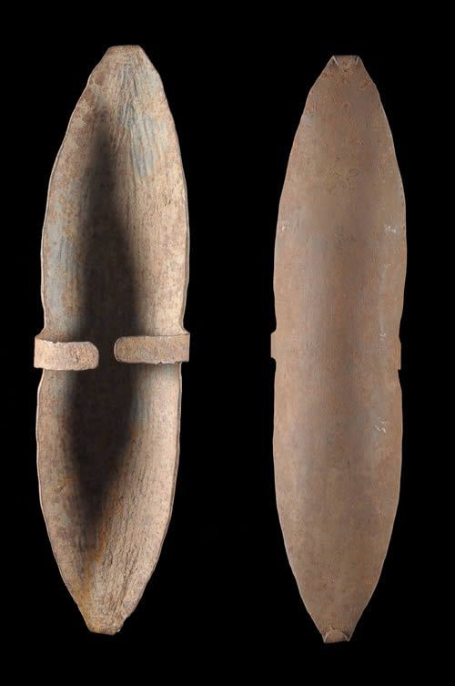 Monnaie primitive en fer noir - Kabye - Togo