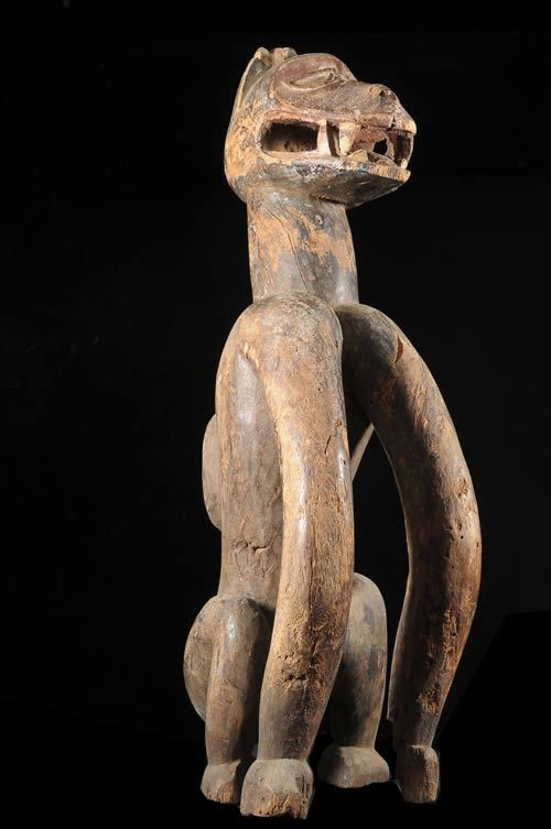 Statue Singe Lube Yemi pour Shango - Yoruba - Nigeria