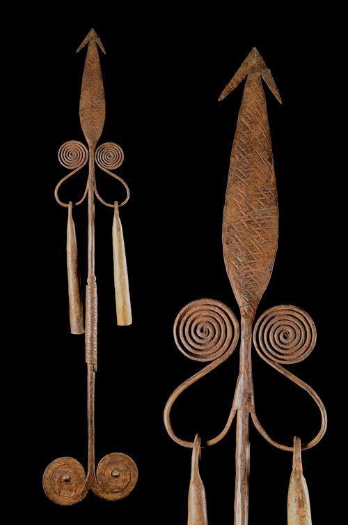Monnaie primitive en fer noir - Chamba - Nigeria
