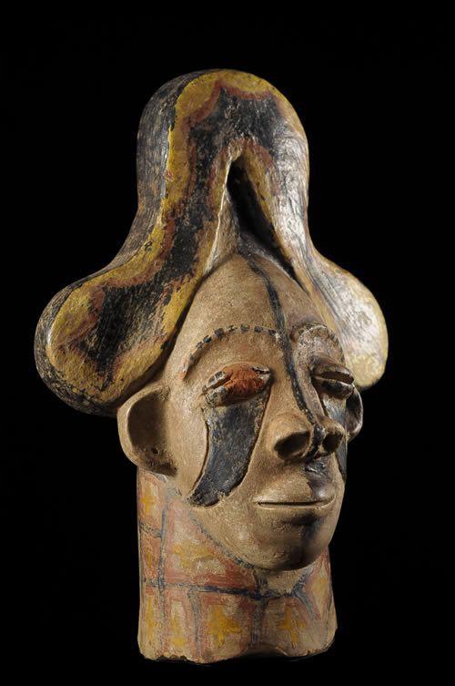 Mbari - Fragment de terre polychrome- Ibo - Nigeria