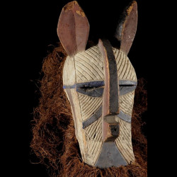 Masque zoomorphe - Luba -...