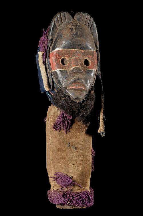 Masque Poteau Gardien - Dan / Wobe - Côte d'Ivoire