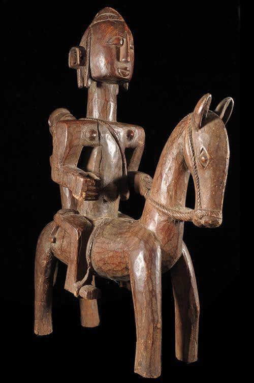 Cavalier et son cheval avec enfant - Bambara - Mali