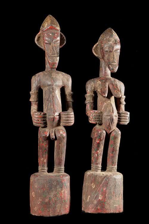 Statue Pilon Deble Poro Kulubele - Senoufo / Kouflo - Cote Ivoir