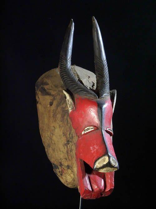 Masque Polychrome Dye Antilope - Gouro - Côte d'Ivoire