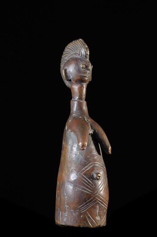 Poupee Biiga en Bronze - Mossi - Burkina Faso
