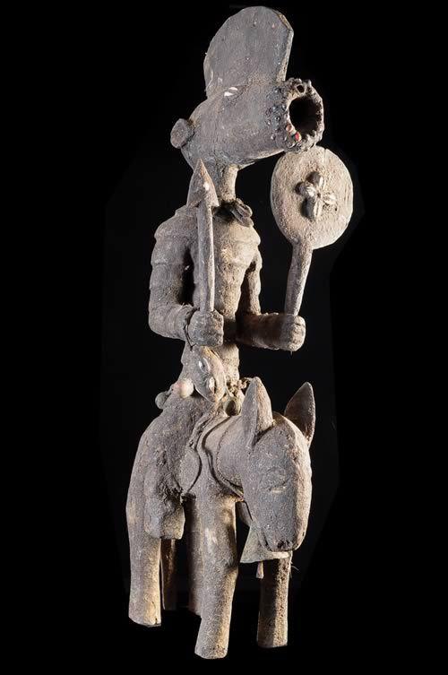 Cavalier et son cheval Koro Tominian - Bwa - Burkina / Mali
