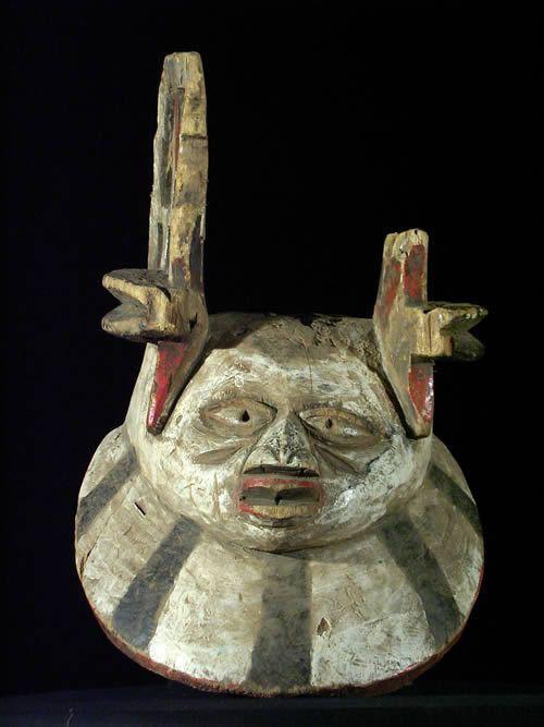 Masque cimier Gelede - Yoruba - Nigeria - Culte gelede