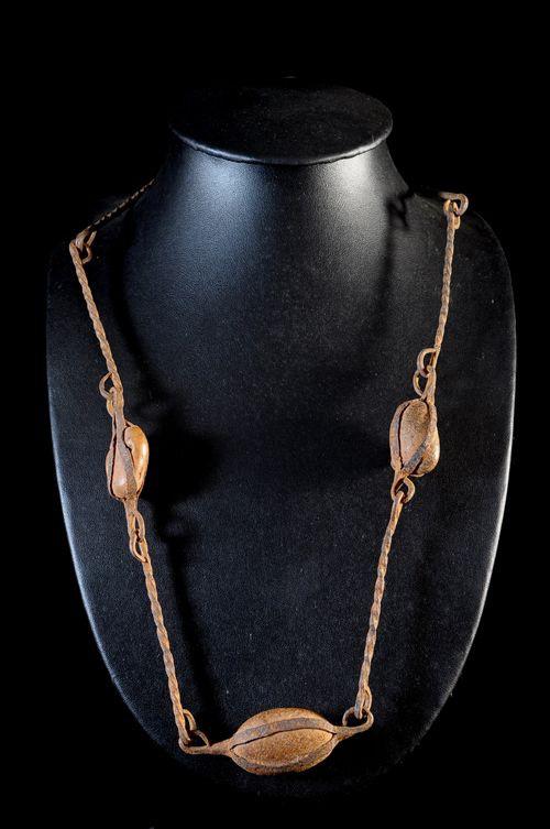 Collier rituel en fer noir - Dogon - Mali