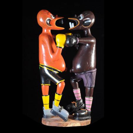 Sculpture Shetani Boxeurs -...