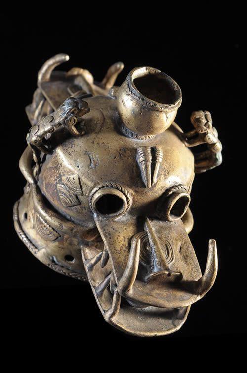 Masque en alliage de metal - Senoufo - Côte d'Ivoire