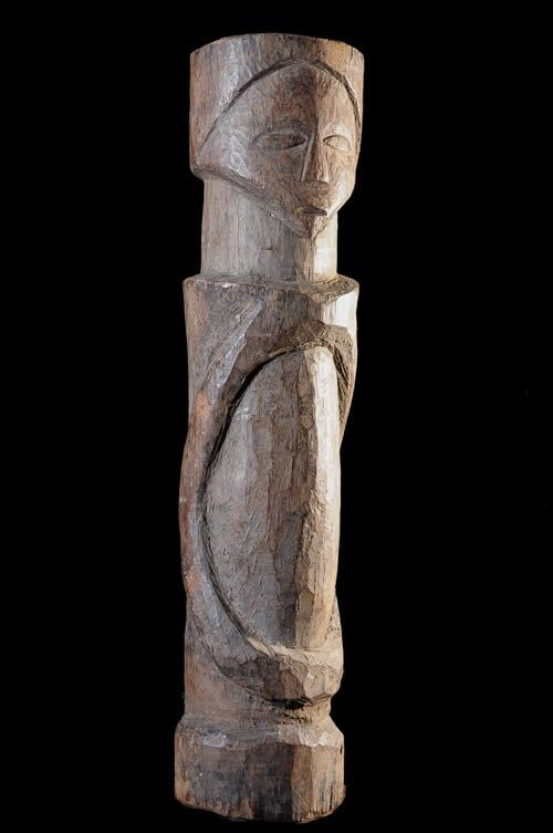 Statue cultuelle ou Poteau - Bembe / Basikasingo - RDC Zaire