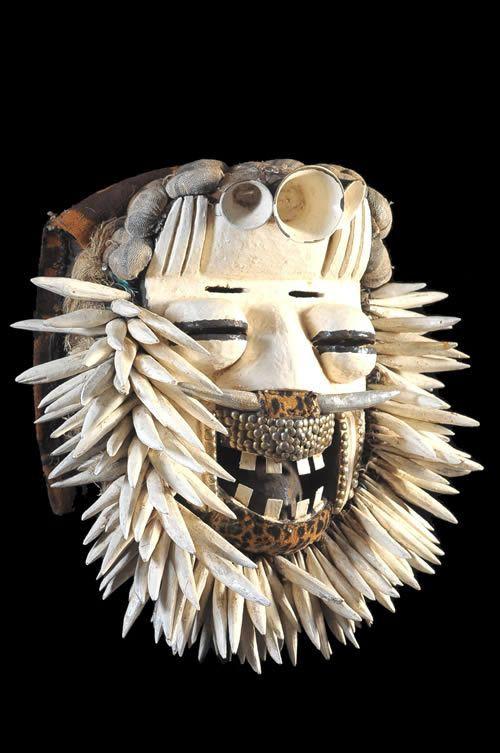 Masque Polychrome Sacre / Sagesse - We / Guere - Côte d'Ivoire