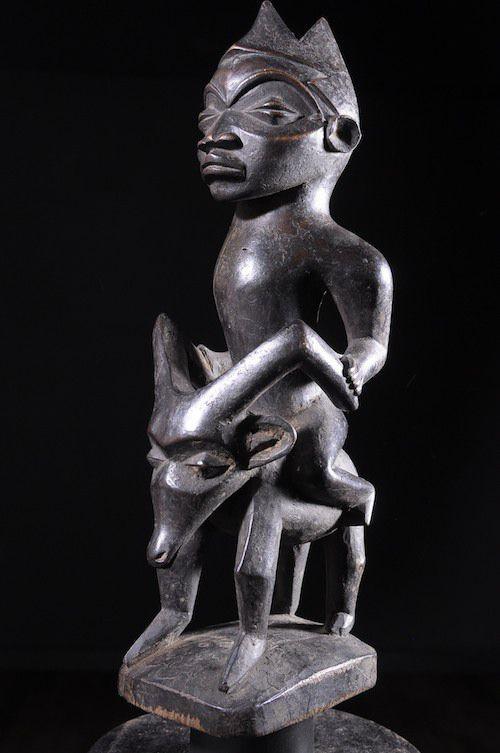 Cavalier et son cheval - Pende - RDC Zaire