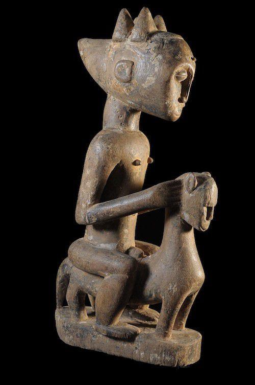 Cavalier et son cheval - Attié - Côte d'Ivoire