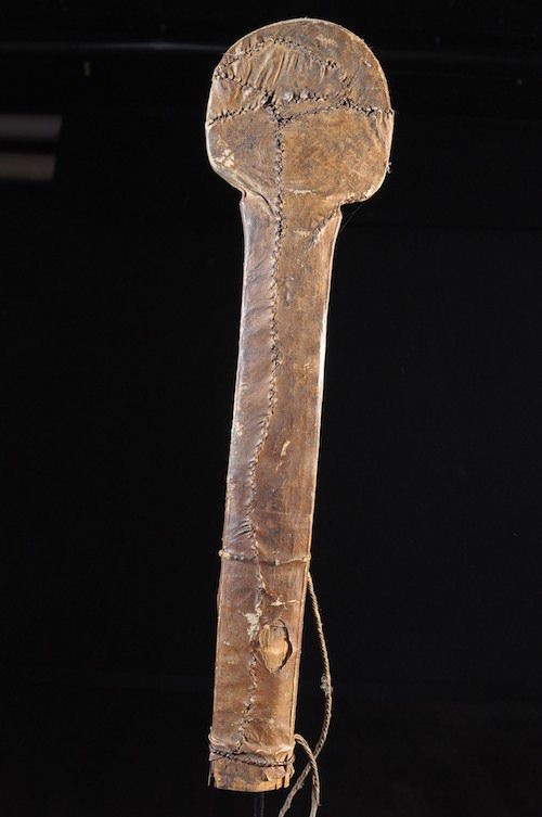 Glaive et son fourreau de cuir - Yaka - Rdc Zaire