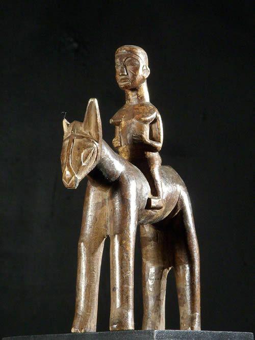 Cheval et son cavalier - Ethnie Lobi - Burkina Faso