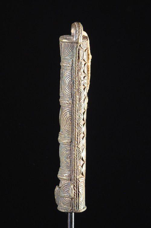 Flute ou marteau en bronze - Wé - Côte d'Ivoire - Aerophones