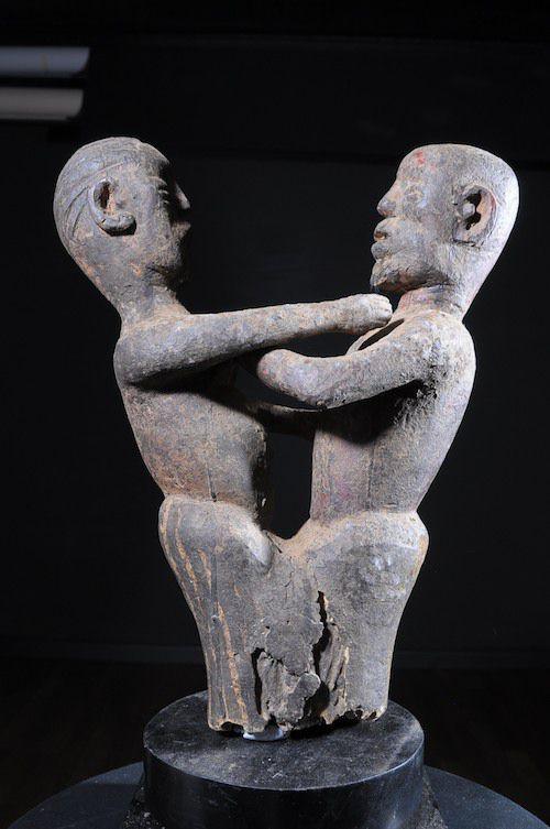 Statue cultuelle de couple  - Mossi - Burkina Faso