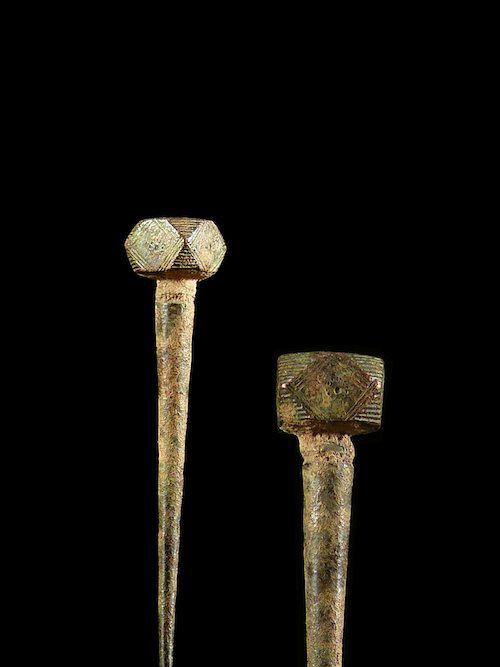 Pique a cheveux en metal - Gurunsi - Burkina faso