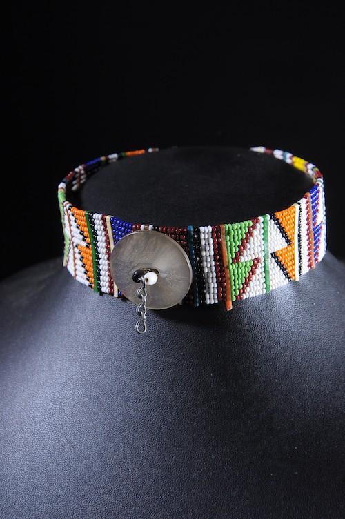 Tour de cou en perles de verre - Massai / Samburu - Kenya
