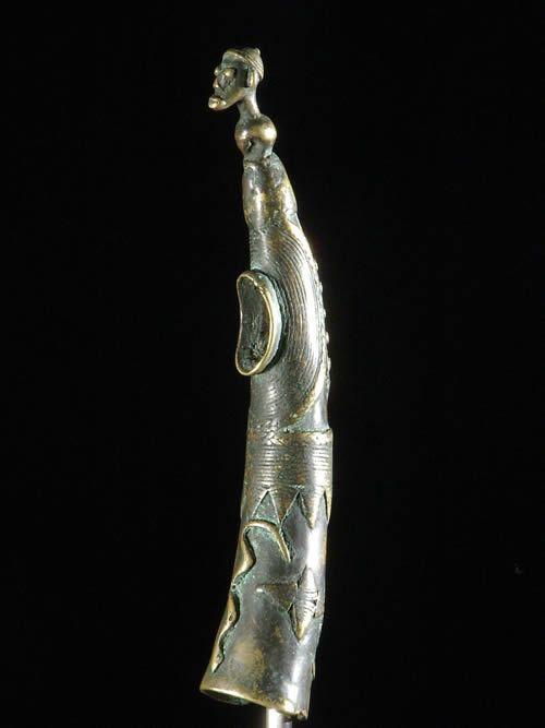 Trompe ou Olifant en bronze - Senoufo - Côte d'Ivoire - Aerophones